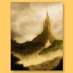 the elven kingdom fantasy art postcard by frank_glerum_art