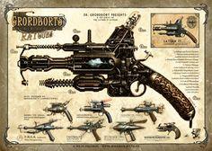 geek with curves: Steampunk Thursday #9 - Dr. Grordbort's Rayguns