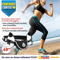 #Concours - Participez à notre concours du 31 août au 13 septembre 2015 pour courir la chance de gagner une ceinture Flash Lite Belt! | #Contest - Enter our contest from August 31 to Septembre 13, 2015 for a chance to win a Flash Lite Belt!