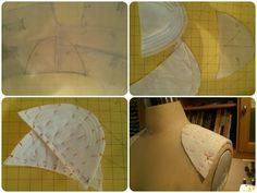 How to Make a Custom Shoulder Pad - Erica B.'s DIY Style! More interested in the hair canvas bias strip sleeve head piece - I guess it could replace the boomerang of classic tailoring? Will need to try!