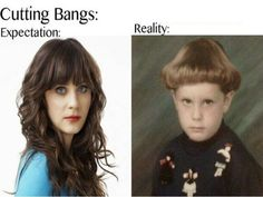 Things to Consider Before You Cut Bangs Bangs: either you love them or you hate them. At some point in our lives we will even be tempted to try them! But, beware. They may look good in photos you see on Pinterest, but that doesn't mean that you will like them on your own face. Before you take the plunge and chop some bangs, here are a...  Read More at http://www.chelseacrockett.com/wp/beauty/things-to-consider-before-you-cut-bangs/.  Tags: #Bangs, #BangsAdvice, #BangsT