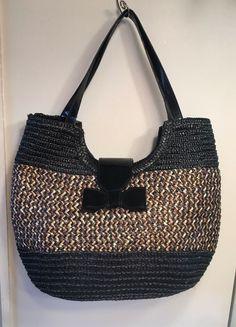 ca3bbbdcdd50 Black Tan Straw Purse  fashion  clothing  shoes  accessories   womensbagshandbags (