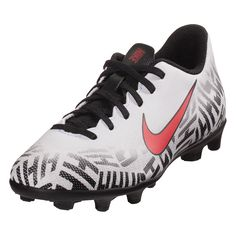 best service 97575 02249 Nike Junior Mercurial Vapor XII Club NJR GS FG MG Multi Ground Soccer Shoe  White Red Black-1