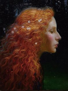 Mermaid [Original Title Unknown] By Victor Nizovtsev Victor Nizovtsev, Pre Raphaelite, Painting & Drawing, Hair Painting, Redheads, Fantasy Art, Illustration Art, Illustrations, Mermaid Illustration