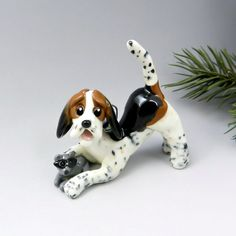 Treeing walker coonhound christmas ornament by themagicsleigh