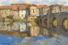 "Bridge to Cross by Kevin Macpherson Oil ~ 10.75"" x 16.25"""