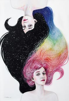 Imagen de art, drawing, and rainbow Art And Illustration, Landscape Illustration, Arte Inspo, Kunst Inspo, Cool Drawings, Art Reference, Amazing Art, Cool Art, Art Photography