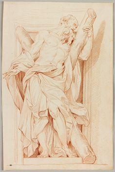 Edme Bouchardon, Saint André d'après Rusconi. Département des Arts graphiques, musée du Louvre. © RMN-Grand Palais (Musée du Louvre) / Mathieu Rabeau