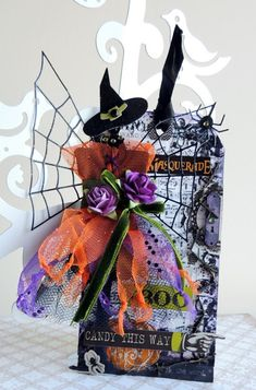 All Things Creative: Spooky Tag Challenge Halloween Paper Crafts, Halloween Tags, Halloween Banner, Holidays Halloween, Halloween Decorations, Halloween Ornaments, Halloween Projects, Halloween 2020, Halloween Stuff
