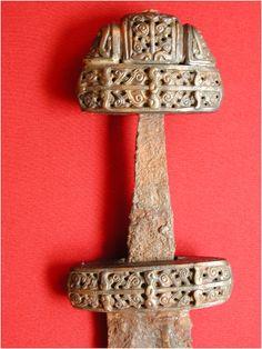 Vikign sword produced on Gotland, Sweden. Found in Gnezdovo, Russia.