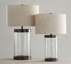 "Murano Glass Table Lamps  Large: 10.5"" diameter, 31"" high,  100 watts, $200 retail  Small: 8"" diameter, 24"" high, $140 retail 100 watts"