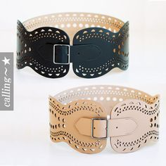 セレブ愛用者多数☆Azzedine Alaia☆ Leather Corset Belt