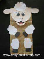 Sheep puppet from brown paper bag. Year of the sheep 2015 Sheep Crafts, Farm Crafts, Vbs Crafts, Church Crafts, Crafts For Kids, Hanukkah Crafts, Paper Bag Crafts, Paper Bags, Lamb Craft