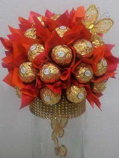 Ferrero Rocher Bouquet (Chocolate Regalo Ferrero Rocher)