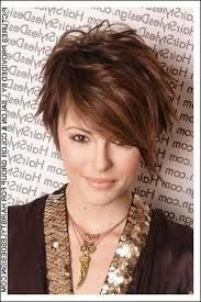 short haircuts for round face - Google Search