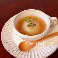 レンチンde時短♡とろぉ〜り美味しい!新玉ねぎ丸ごとスープ♡