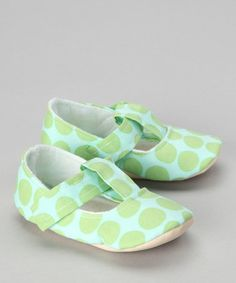 Take a look at this Blue & Green Kiwi T-Strap Shoe by Gracious May on #zulily today!