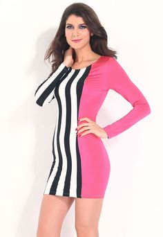 Robes Moulantes Attention Getting Stripes Et Robe Solide Pas Cher www.modebuy.com @Modebuy #Modebuy #CommeMontre #me #TagsForLikesApp #mode