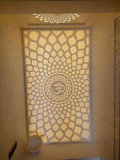 Corian temple Jalli Design, Temple Glass, Glass Partition Designs, Temple Design For Home, Pillar Design, Dressing Table Design, Pooja Room Door Design, Bedroom False Ceiling Design, Puja Room