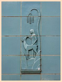 Detail of tile work on the Dattola Theater, New Kensington, Pennsylvania.