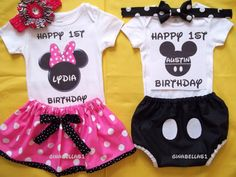 Minnie Mouse onesie Mickey Mouse Birthday pink outfit little man bow tie boy diaper cover big brother twins sister 9 12 18 24 months Minnie Mouse Onesie, Mickey Mouse 1st Birthday, Twin First Birthday, 1st Birthday Outfits, Mickey Party, Baby Birthday, First Birthday Parties, Birthday Ideas, Birthday Stuff