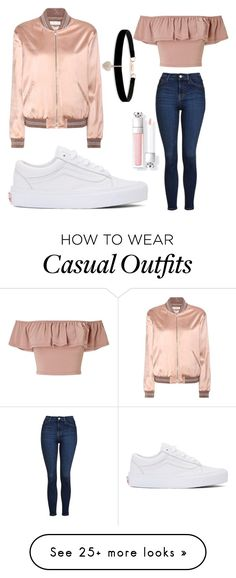 """Casual Rose Gold"" by ishipromione on Polvoriento featuring Topshop, Vans, Miss Selfridge, Yves Saint Laurent and Betsey Johnson Urban Fashion Trends, Fashion 2017, Look Fashion, Teen Fashion, Teenager Fashion, High Fashion, Latest Fashion, Spring Fashion, Womens Fashion"