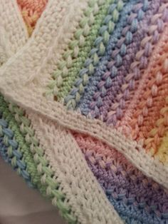 Crochet Baby Blanket Hairpin Lace Afghan MADE TO by AlwaysStitches [