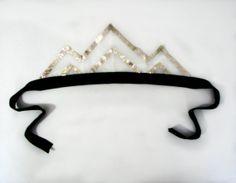 Holiday 2012 Sparkle Chevron Crown by CauliflowerKids on Etsy, $10.00