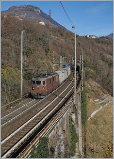 By Preglia, the BLS Re 195 help to puch this Carog Train to Brig. Rail Transport, Swiss Railways, Electric Locomotive, Bern, Railroad Tracks, Train, Pictures, Trains, Paths