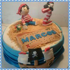 pirate fondant cake
