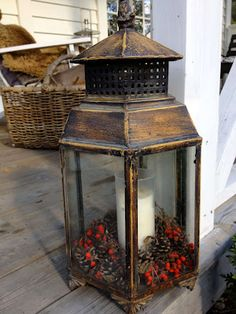 You can find more nautical looking lanterns at antique shops, Marshals, Christmas tree shop and other home stores