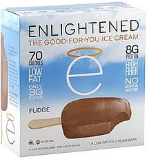 Enlightened Ice Cream Bars : 3 grams sugar, 70 carbs, 8 grams protein