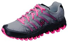 lowest price 3e6fc 4f743 Item TUBESRUN K-Swiss Tubesrun Women s Shoes (Grey Blk Neon Pink). A  lightweight running shoe - perfect for complimenting scrubs. Offering  comfort for those ...