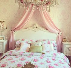 Pink Floral Girly Room