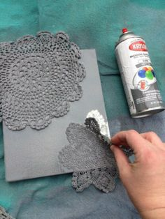 Doily and canvas art