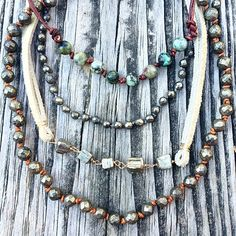 Still not over the chokers #pyrite #summer #africanturquoise