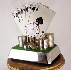 Vintage jeu Poker Clock Quinte Flush royale par NeatstuffAntiques