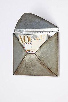 I'd go through my bills faster with this to draw me to them!  Welded Letter Holder
