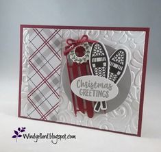 Picks from My Pals Stamping Community! (Mary Fish, Stampin' Pretty The Art of Simple & Pretty Cards) Christmas Cards 2018, Christmas Sled, Xmas Cards, Christmas Greetings, Holiday Cards, Christmas Crafts, Christmas 2019, Handmade Christmas, Greeting Cards