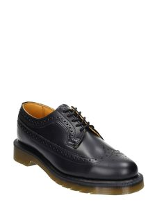 black leather lace up shoes, rubber soleComposition: Leather