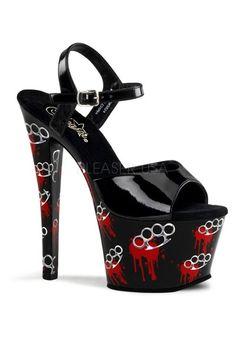 Brass knuckle heels.