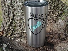 Custom Monogram Nurse Vinyl Decal for Yeti Rambler, RTIC, Ozark Trails,Tumbler