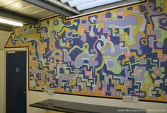 Michael Carlton Art Mural at the rlab Hackspace, Reading Office Mural, Door Murals, Reading, Frame, Artist, 10 Years, Painting, Decor, Picture Frame