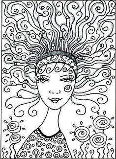 Doodle Mädchen 1366