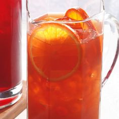 Get a little pick-me-up with this orange-infused Earl Grey iced tea. Tea is rich in a class of antioxidants called flavonoids that may help reduce your risk of Alzheimer's and diabetes, plus help you have healthier teeth and gums and stronger bones. You can help preserve the flavonoids in iced tea by adding something acidic--like the orange juice in this recipe.