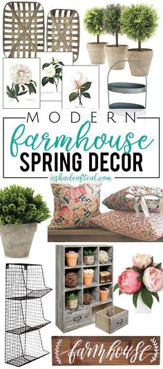 Modern Farmhouse Spring Decor, on a budget!