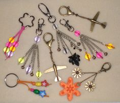 How to make key rings & bag charms - visit the albums section on our Facebook page for the tutorial