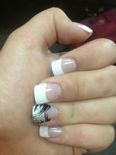 French manicure nail design ♥