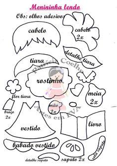 I Love Crafts: Eva Dolls with Mould Foam Crafts, Preschool Crafts, Paper Crafts, Felt Patterns, Stuffed Toys Patterns, Felt Dolls, Paper Dolls, Bear Felt, The Colour Of Spring