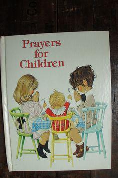 Prayers For Children Illustrated by Janet and Anne Grahame Johnstone ~ Dean & Sons Ltd. ~ 1981 by smileitsvintage on Etsy